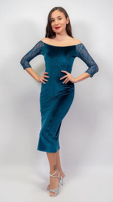 Amelia Petroleum Velvet Tango Dress