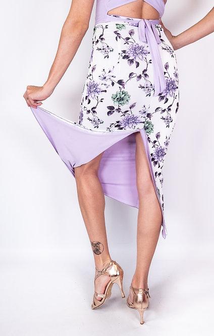 Japanese Dream Floral & Lilac Reversible Tango Skirt