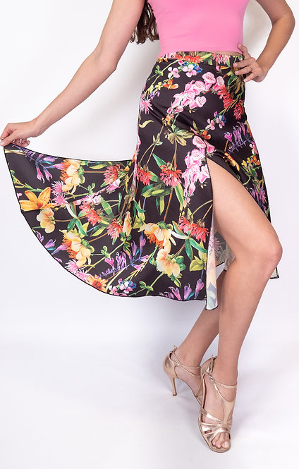 Flowy & Satin Flower Basket  Satin Tango Skirt