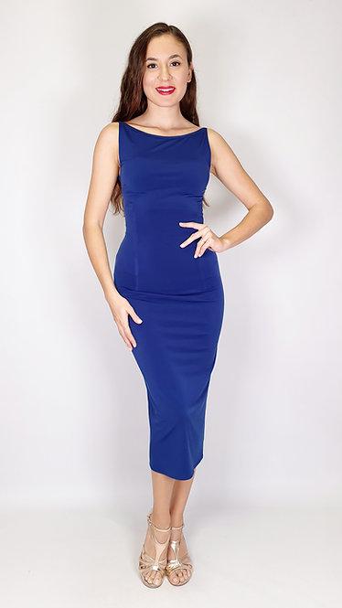 Lucia - Navy Blue Tango Dress