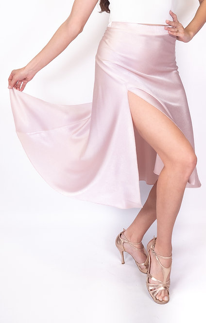 Flowy & Satin Light Pink Satin Klosh Tango Skirt