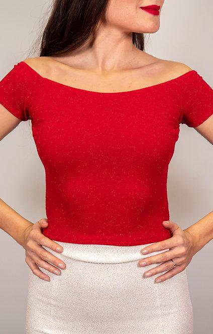 Victoria - Aphrodite Red Shiny Tango Top