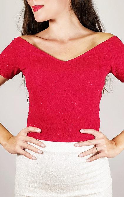 Valentina - Aphrodite Red Shiny Tango Top