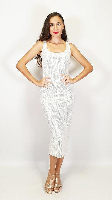 Eos - Snow White Sequin Shiny Tango Dress