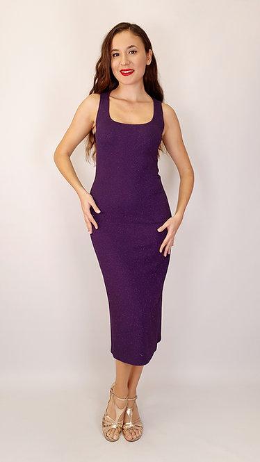 Thalia - Purple Shiny Tango Dress