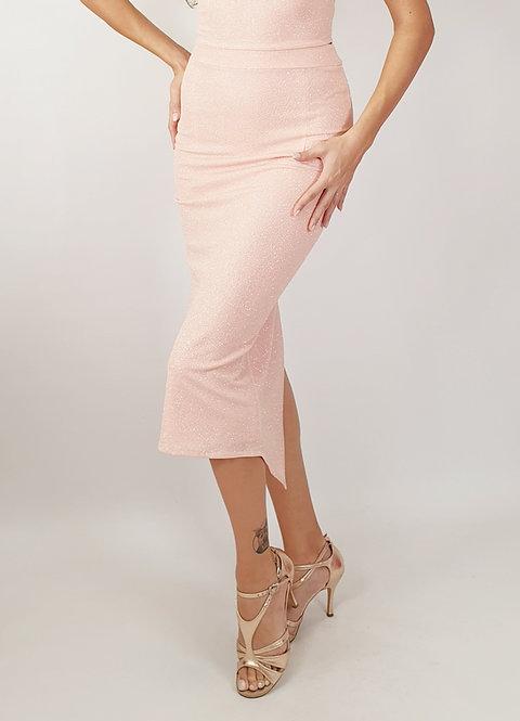 Selene - Pink Shiny Tango Skirt