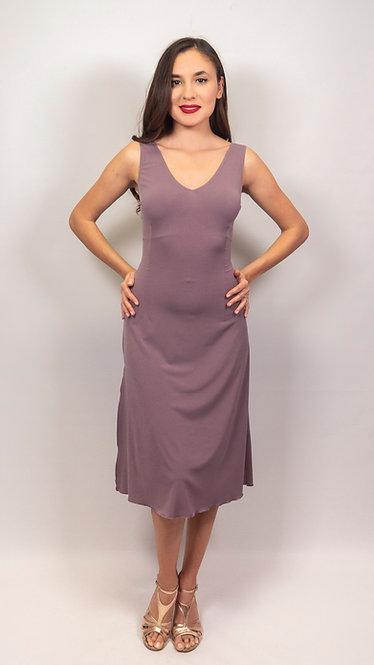 Nora - Deep Taupe Tango Dress With Fish Tail