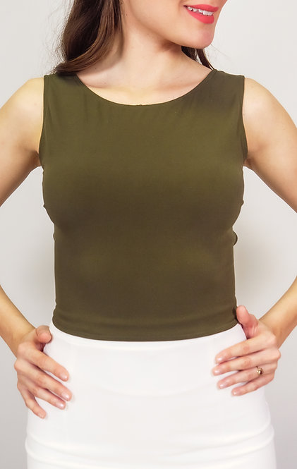 Julia Olive Green - Brown  Reversable Tango Top