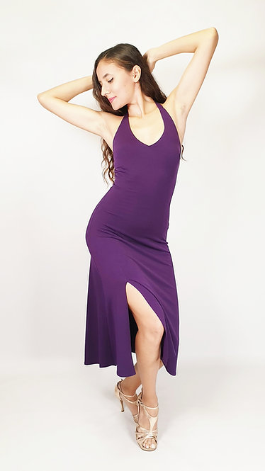Luna - Purple Flared Tango Dress