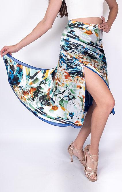 Flowy & Satin Ocean Dreams Half Klosh Satin Tango Skirt