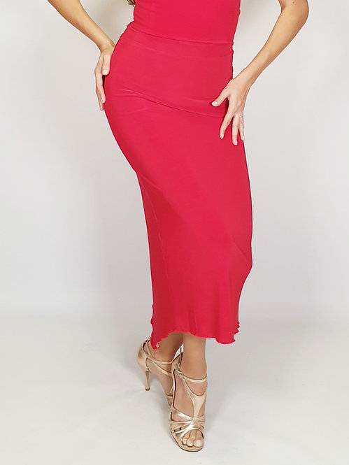 Aphrodite - Red Shiny Tango Skirt