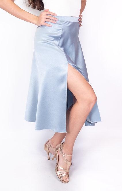 Flowy & Satin Baby Blue Satin Klosh Tango Skirt