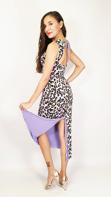 Lavish Cheetah - Animalic & Lilac Reversible Tango Dress