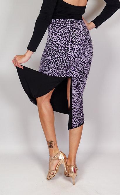 Baby Cheetah  Purple - Animalic & Black Reversible Tango Skirt