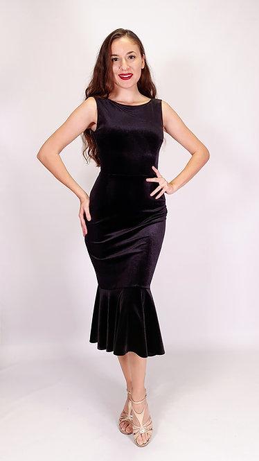 Grace - Black Velvet Tango Dress
