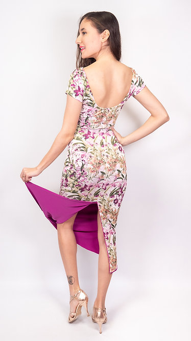 Sweet Capri & Fuchsia Reversible  Tango Dress