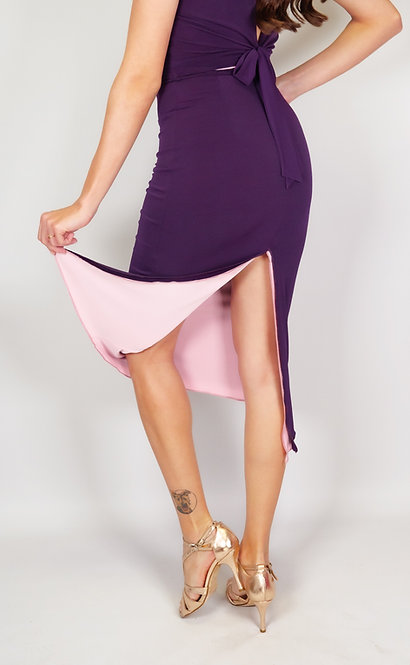 Stephanie Purple & Pink Reversible Classic Tango Skirt