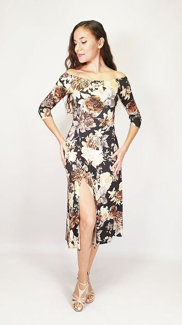 Authentic Singapore Floral & Flared Tango Dress