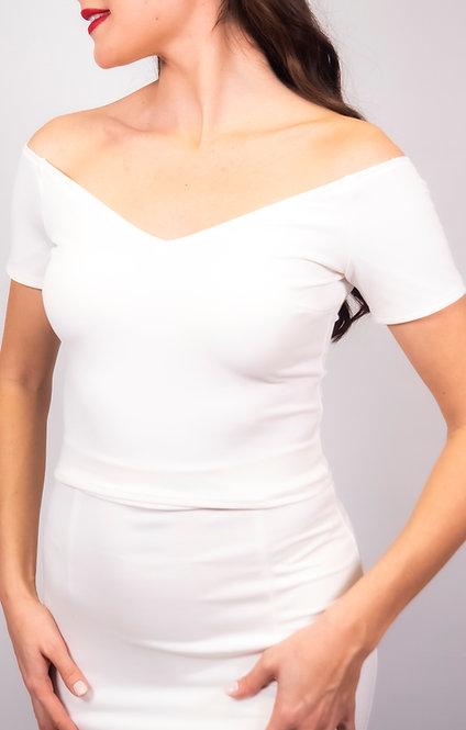Eliza - White Off Shoulder Tango Top