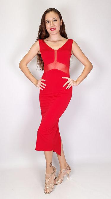 Angelina - Red  Tango Dress