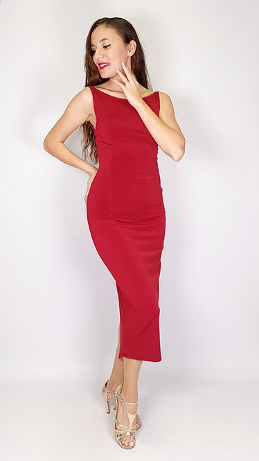 Lucia - Maroon Tango Dress
