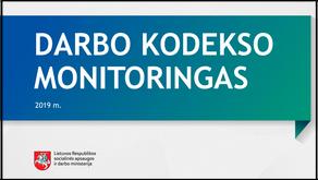 Darbo kodekso monitoringas 2019 m.