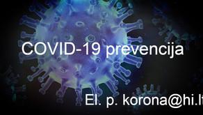 Higienos instituto medžiaga apie covid-19 prevenciją įstaigose