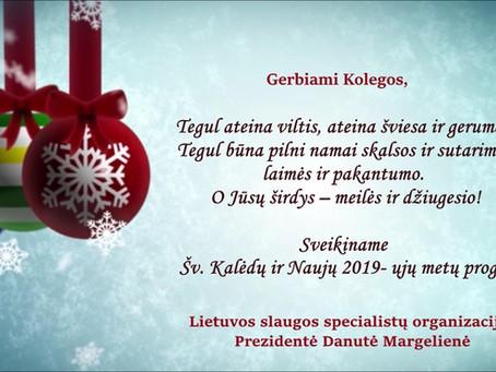 LSSO Prezidentės Kalėdinis sveikinimas