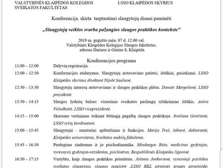 """Konferencija Klaipėdoje """"Slaugytojų veiklos svarba pažangios slaugos praktikos kontekste"""""""