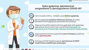 VLK informavo, koks gydymas apmokamas sergantiems ir persirgusiems COVID-19