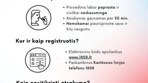 Svarbi informacija apie profilaktinį testavimą dėl COVID-19
