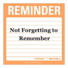Not Forgetting to Remember - By Pastor Thomas Engel
