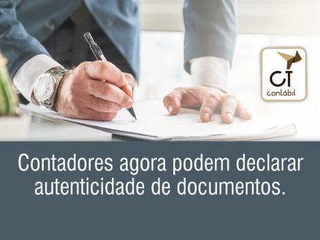 Contadores agora podem declarar autenticidade de documentos.