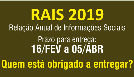 RAIS 2019 – Relatório Anual de Informações Sociais