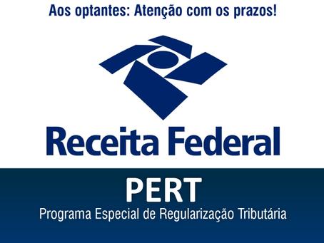 PERT - Optantes precisam atualizar as informações ainda em DEZ/2018
