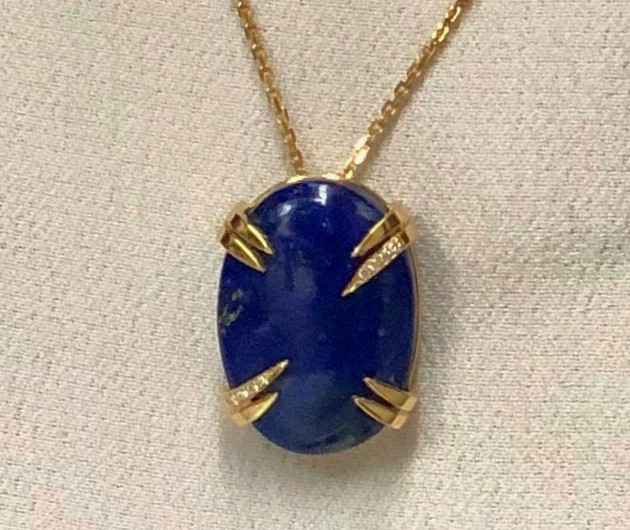SOLD Lapis Amulet