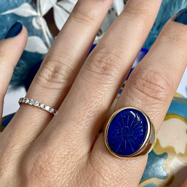Shining Heart Lapis ring