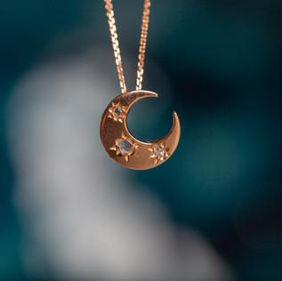SOLD -Crescent moon