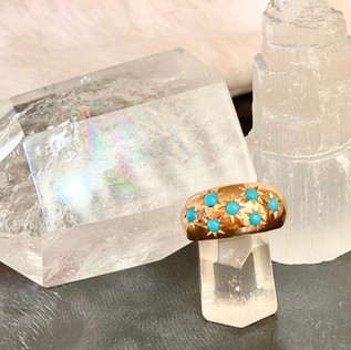 Big turquoise Donut ring