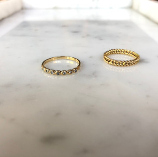 SOLD -Constellation Ring & Braid