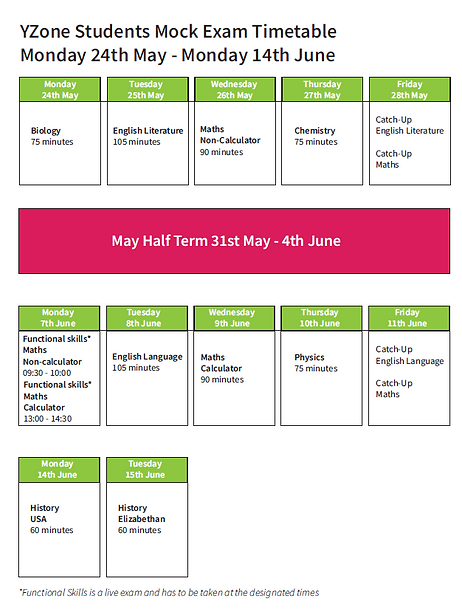 Yzone Mock timetable summer 2021.PNG