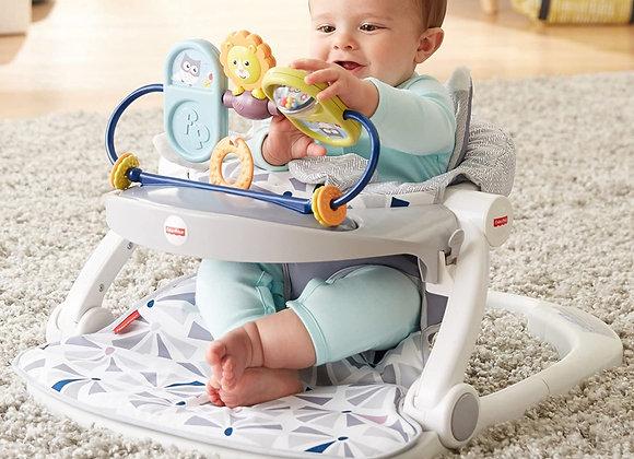 Assento Sit me Up - Coruja - com bandeja de brinquedos - Fisher Price.