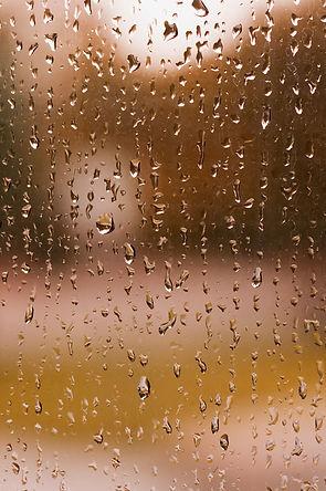 Gotas de agua en ventana