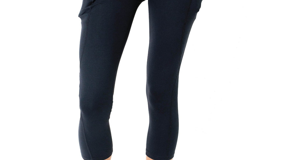 High-Waisted Capri Leggings With Hip Pockets