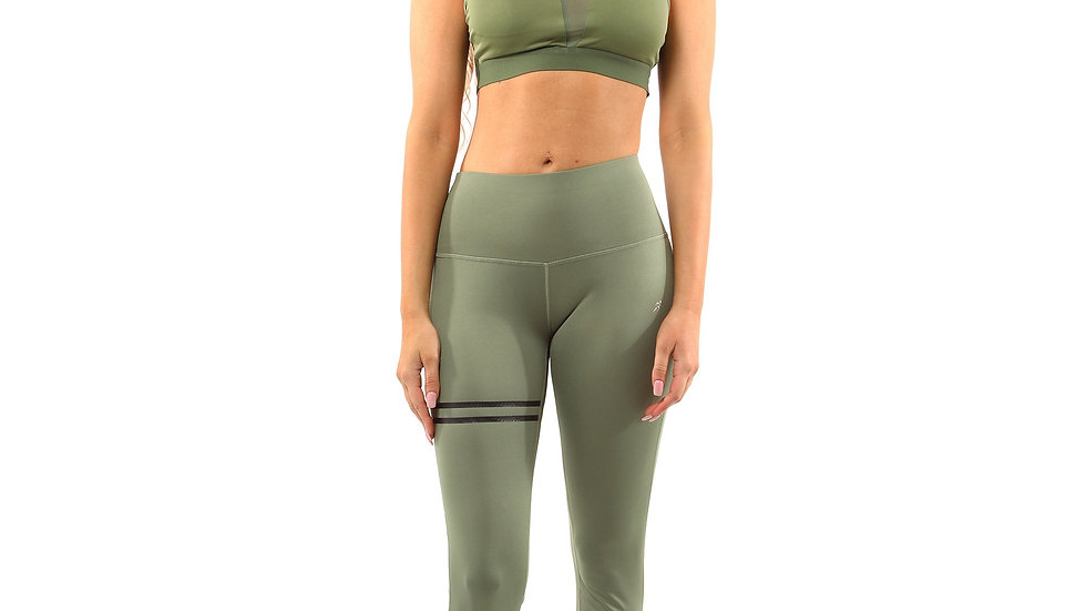 Leggings & Sports Bra - Olive Green