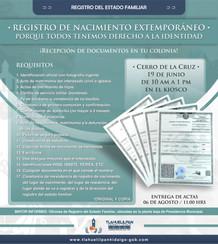 REGISTROS DE NACIMIENTO EXTEMPORANEOS.