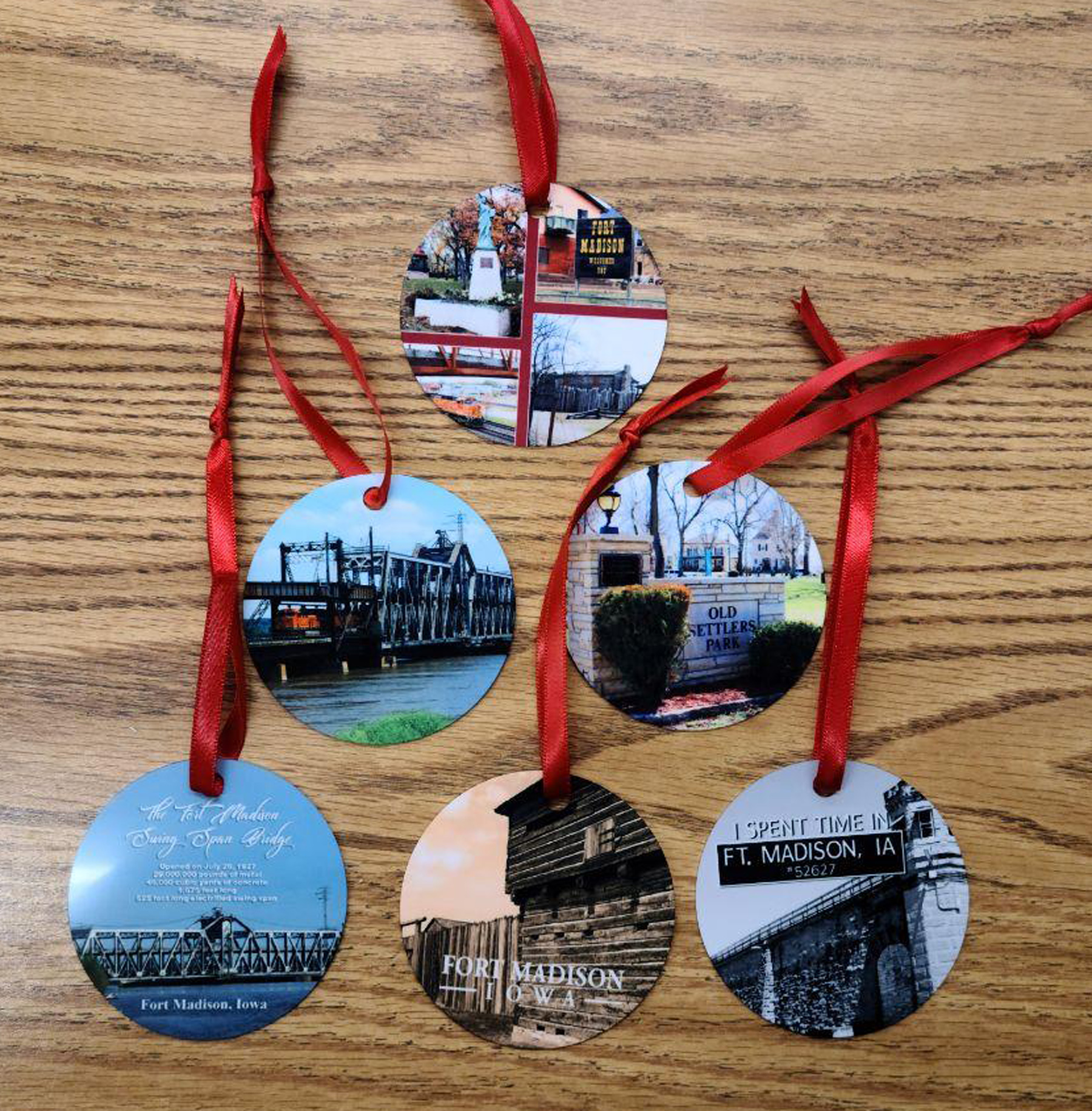Fort Madison Christmas Ornaments