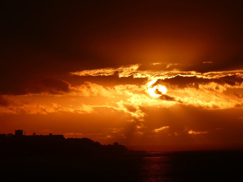 Sonnenuntergang in Vina del Mar