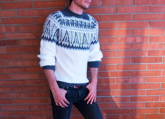 Alpakastore - Weißer Pullover