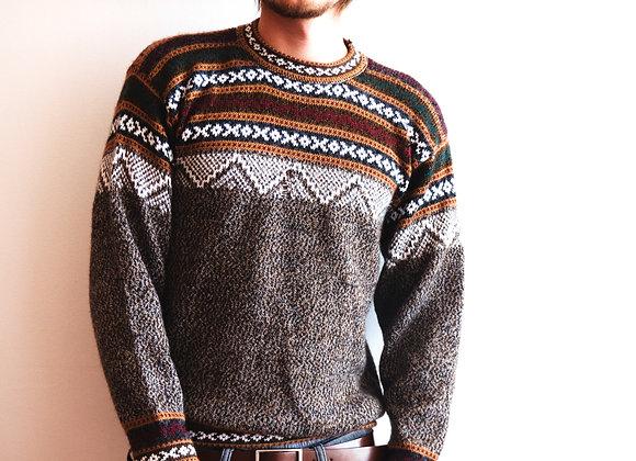 Alpakastore - Brauner Pullover mit Fehler